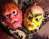 2 Vintage Halloween Masks