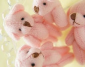 5 pcs Teddy Bear Doll Charm (40-45mm)  Pink DO071 (((LAST))