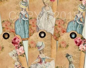Instant Download - Marie A No 102M-  Printable Digital Collage Sheet - Digital Download