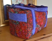 Red Boho Carry On Duffle made to order