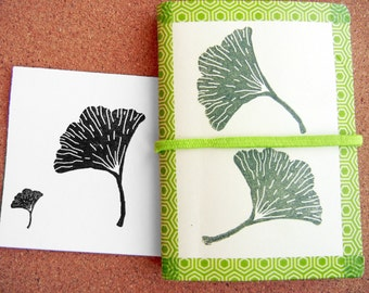 Gingko Leaf Rubber Stamp - Handmade by BlossomStamps