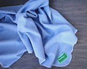 Cashmere wool blanket in sky blue baby toddler junior sizes