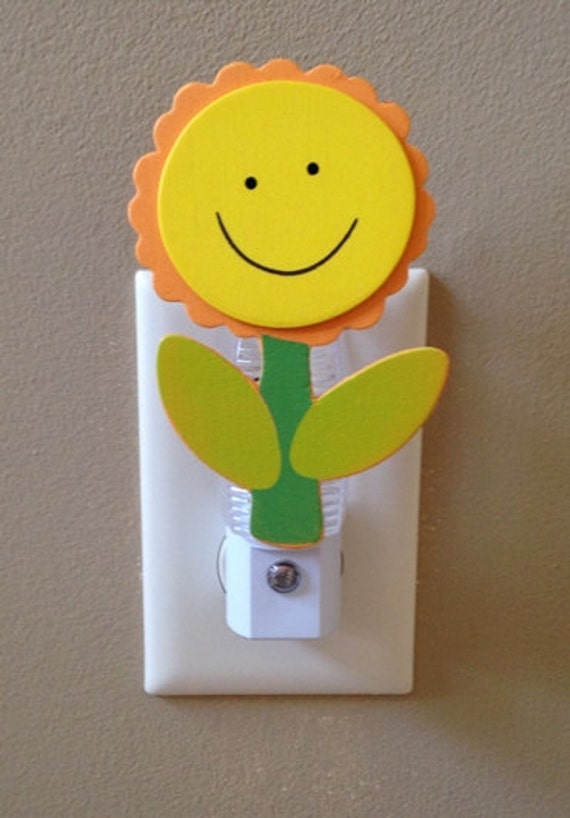 Sunflower Night Light Flower Night Light Sunflower Light  Flower Decor Sunflower Decor Yellow Flower Personalized