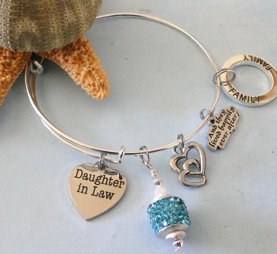 Daughter in law expandable stackable bangle charm bracelet free