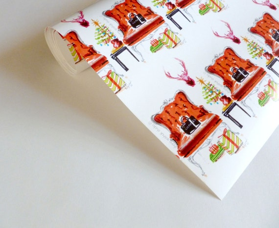 28 french gift wrap items similar to christmas wrapping pap