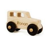 Wooden Toy Truck, personalized eco-friendly kids toy