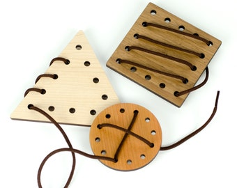 Geometric Lacing Toy, 3 piece