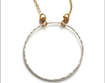 Fine Silver Hoop Necklace