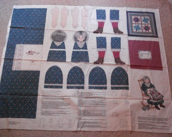 Granny And Her Quilt - Fabric Craft Panel to make Doll & Quilt - V.I.P Fabrics