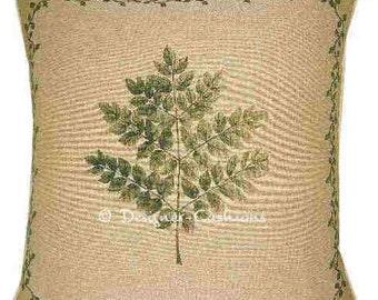 Leaf Design No 2 Tapestry Cushion Cover Sham