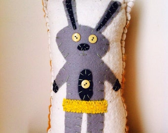 Shabby Jack Rabbit Pillow