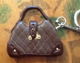 Tiny handbag keychain
