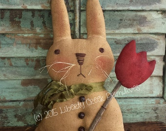 Primitive Easter Bunny Rabbit PATTERN ~  Basil Instant Download