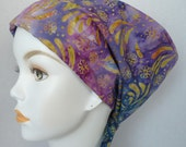 Hand Dyed Batik Hair Loss Cancer Hat Chemo Scarf Cap Head Wrap Alopecia Turban Headcovering Bad Hair Day