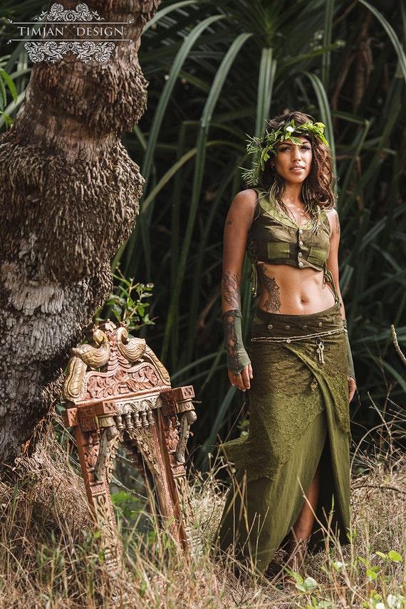 Long Pixe Skirt Faery Fairy Tribal Hippie Boho Burning Man