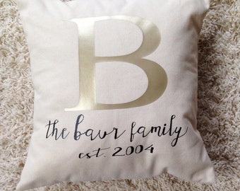 Family Name - Pillow Cover