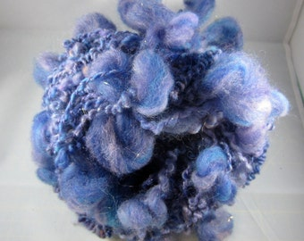 Handspun merino wool/mohair Supercoil Purple and Blue Twilight bulky yarn