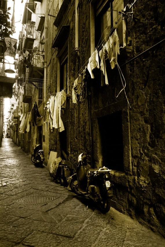 Naples Street with Laundry