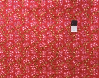 Dena Designs PWDF157 Love & Joy Cherry Red Cotton Fabric 1 Yard
