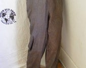 "Men's Yoga pants Herman's Eco Organic Brown Cotton Small by 31"" inseam drawstring Pants Gots USA"