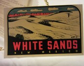 Vintage Travel Souvenir Decal of White Sands New Mexico