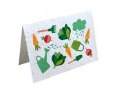 Seeded paper lettuce greeting card