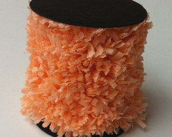 Hand Made Crepe Paper Fringe -- Peach