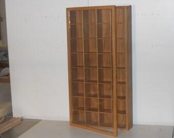 Tie holder T32P, Display case, Shadow box Tie case, Tie storage, collectors case, wall curio,