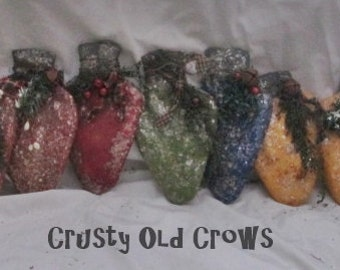 Primitive Christmas Light Ornaments/Bowl fillers