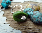 Robust Necklace, Natural Turquoise Gemstones, Blue and Green, Organic Rugged Earthy, All Sterling Silver Findings, Strong Sturdy Chain