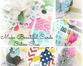 E-Course Make Beautiful Cards - Online Class - Instant Access