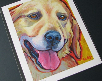 GOLDEN RETRIEVER Dog 8x10 Signed Art Print from Painting by Lynn Culp