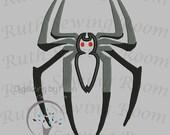 Spiderman Logo Applique, Spiderman Applique Embroidery Design