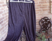Black suede cloth knickers, Use for Renaissance, Pirates, Jesters