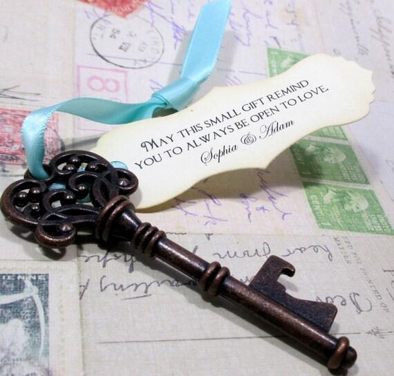rustic key bottle opener wedding favor skeleton key. Black Bedroom Furniture Sets. Home Design Ideas