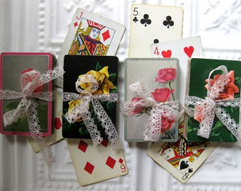 Gorgeous Vintage Roses Playing Cards Assortment (40 pieces), Tags, Scrapbooking, Collage