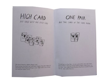 Poker Hands, illustrated zine with rules and etiquette