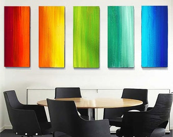 Ombre Wall Art | Wood Art | Large Wall Sculpture | Original Art | Painted Wood Wall Sculpture | Corporate Art | Office Art | Abstract Art