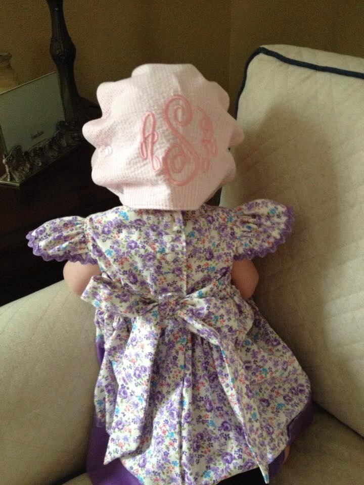 Ruffle Button Bonnet Pdf Sewing Pattern Tutorial