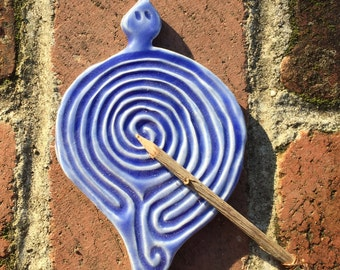 Spiral Turtle Goddess Tracing Pocket Labyrinth Lavender Blue