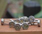 Wedding cuff links wedding special 5 pair Winchester Colt .45 nickel silver cuff links. Perfect gift for the Best man and Groomsman