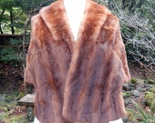 Vintage  Mink Fur Bridal Wrap-capelet-Pockets-Pristine condition
