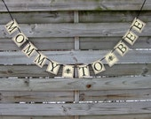 Mommy to Bee banner - Baby Shower Bunting Decoration