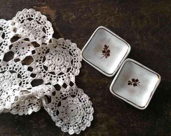Antique Ironstone Butter Pats, Vintage Tableware, Arthur J Wilkenson, Burslem England