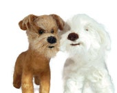 SEVEN  Custom needle felted dog  - needle felted original puppy soft sculpture -  small size - Toy Dog terrier - Crossbreed sculpture