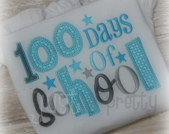 100 Days of School Embroidery Applique Design