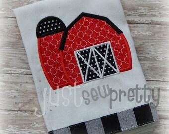Little Barn Embroidery Applique Design