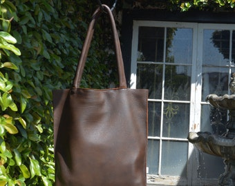 Brown Deer Leather Tote Bag Made to Order
