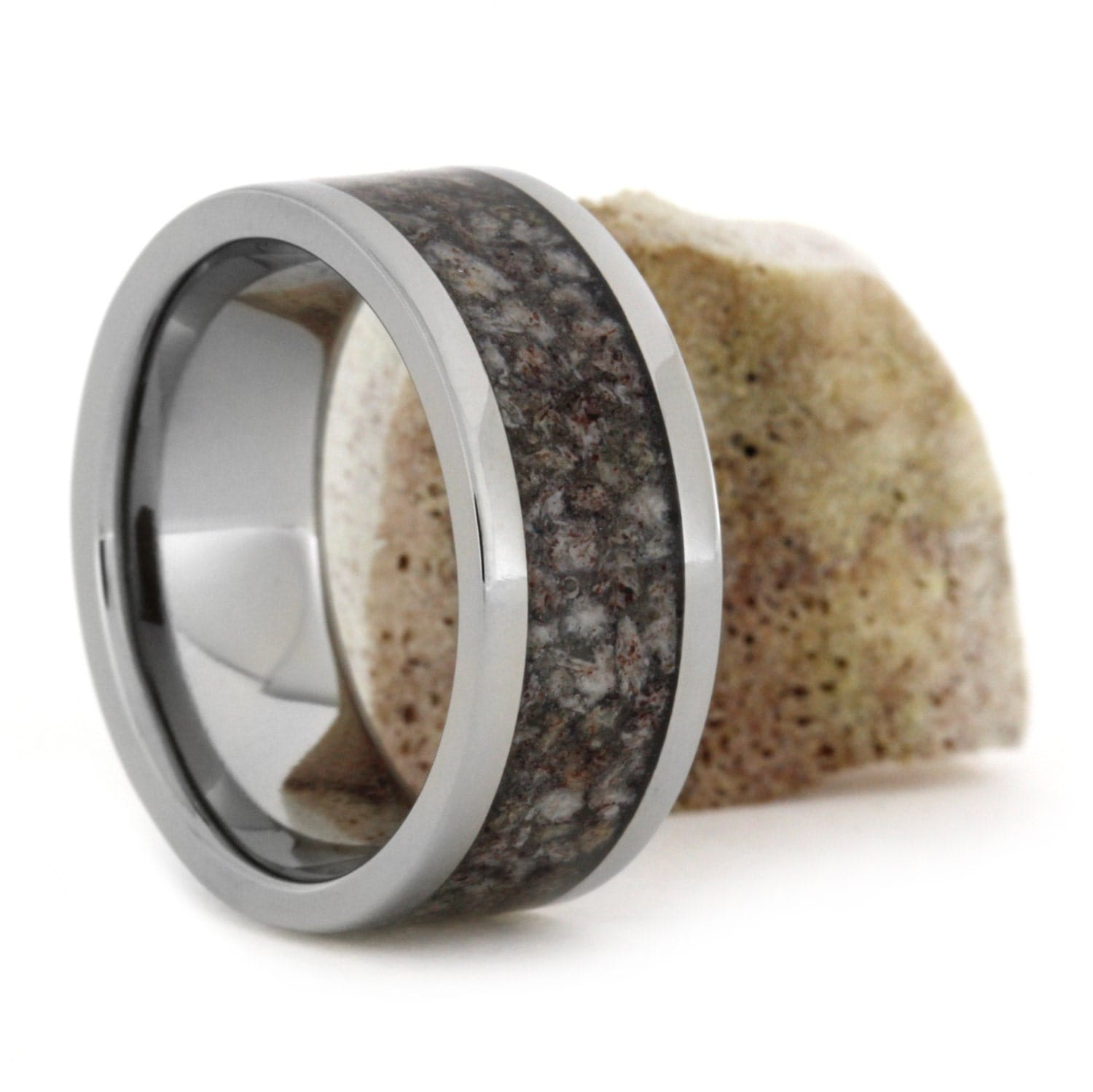 antler jewelry deer antler rings with light and tones in