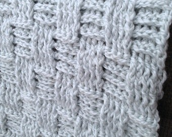 Crochet Baby Blanket Pattern or Lap Afghan...Soft, Luxurious, Decadent...A Tisket, A Tasket